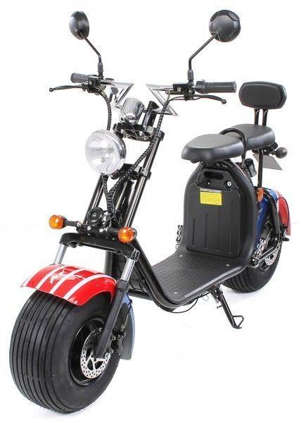 eFlux Chopper Two Elektro Scooter 1500 Watt 60 Volt 20AH mit Straßenzulassung