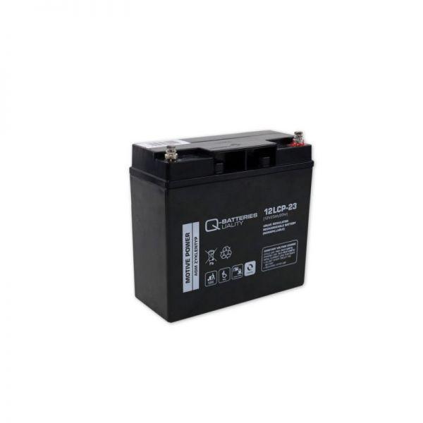 Q-Batteries 12LCP-23 / 12V - 23Ah Blei Akku für Seniorenmobil