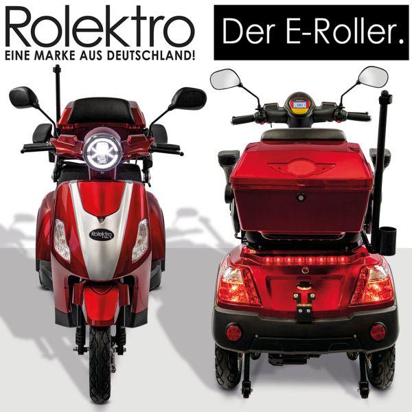 Rolektro, E-Trike 25 V.2, 60V-20Ah Bleigel Akkus, 1000 Watt